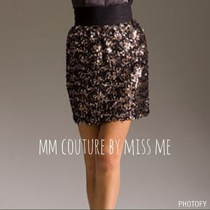 MM Couture by Miss Me Sequin Skirt
