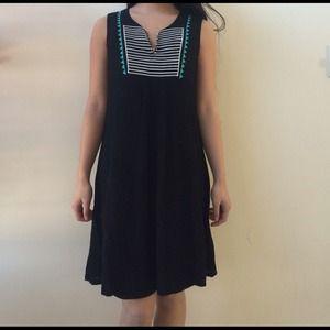 NWOT Black dress with Aztec