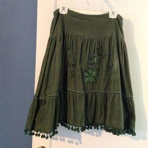 80 zara dresses skirts zara maxi skirt green