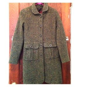 Nordstrom Frenchi Green Pea Coat extra small