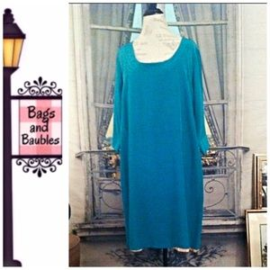 melissa masse Dresses & Skirts - MELISSA MASSE Silk Shift Dress, Sz 1X