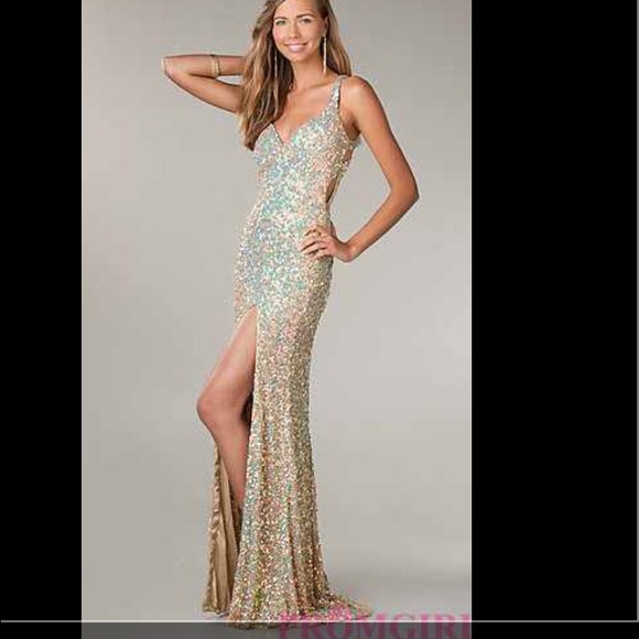 d3da9a4e Primavera Dresses | Long Sequin Dress For Prom By Champagne | Poshmark