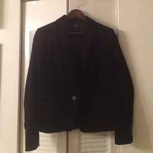Talbots Black Velvet Blazer