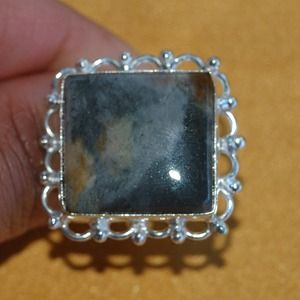 handmade & handcrafted gemstone jewelry Jewelry - Super Cute Jasper Ring Size 7 1/2""