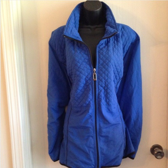 NWT $79.50 CJ Banks Blue Jacket Plus Size 3X 24/26 NWT