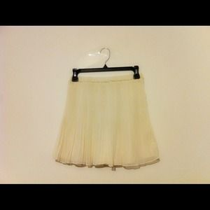 Zara Collection White Chiffon Skirt