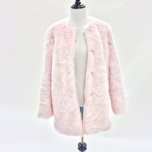 Nameless Jackets & Blazers - Pink Faux Fur Coat
