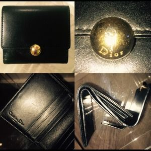 Authentic black Christian Dior wallet