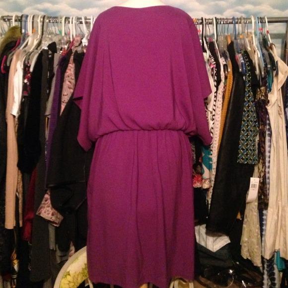 plus size purple tunic dress