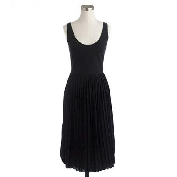 ce0ce7093ce J. Crew Black Pleated Knit Dress