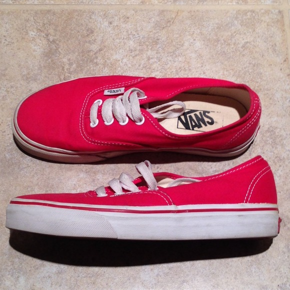 Vans Shoes | Red Size 7 Gently Used