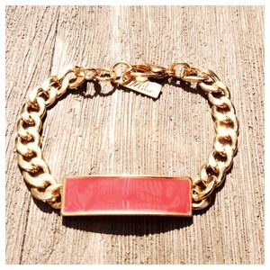 Coral ID style bracelet