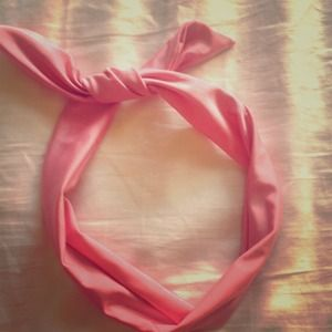 pink twistable wrap around headband