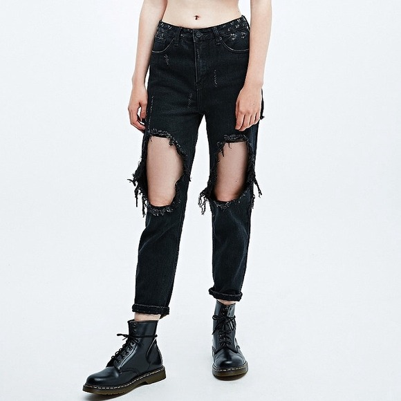 26% off UNIF Denim - Unif X Urban Outfitters Twerk Jeans in Black from Abbyu0026#39;s closet on Poshmark