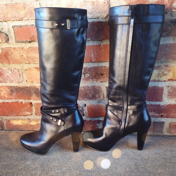 🍁50% OFF SALE Cole Haan Black Leather Boots