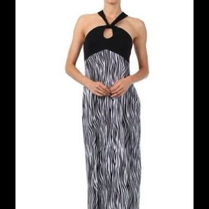 💥SALE💥Zebra Print Halter Dress