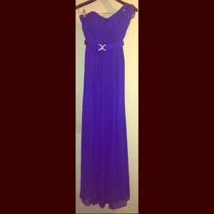 House of Dereon One-Shoulder Evening Gown-Sz 2