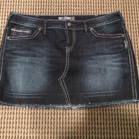 71% off Silver Jeans Denim - Silver denim skirt size 33 from Kim's ...
