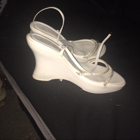 Bridal Shoes Aldo: Aldo Womens White Wedding/prom/date