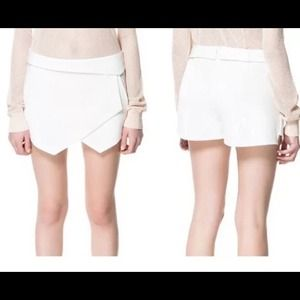 Authentic Zara asymmetrical envelope wrap skort