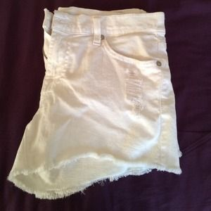White distressed 7 for all mankind shorts