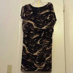 Dresses & Skirts - Dress. Brown, black, cream.