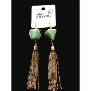 Jewelry - 🆕⭐️Natural stone colored Tassel earrings🆕⭐️