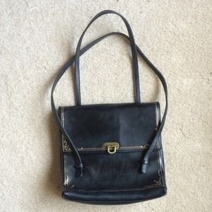 Vintage Black and Gold Purse