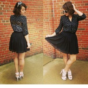 Skirts - Black chiffon skirt