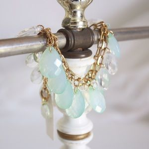 Nordstroms mint crystal teardrop bracelet