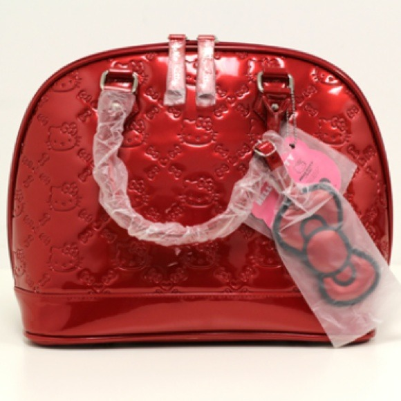 NWT Loungefly Hello Kitty Embossed Tote- Red fe944e3486818