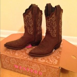 justin  Boots - JUSTIN Bay Western Cowgirl Boots