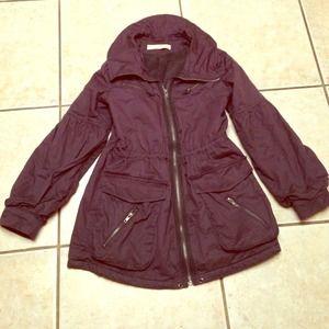 Jackets & Blazers - Dark grey jacket with fleece lining