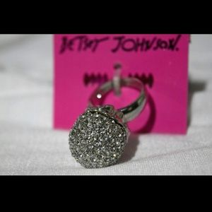 Betsey Johnson Crystal Pave Ring