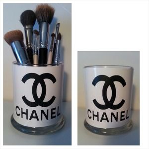 accessories  makeup brush holder chanel  poshmark