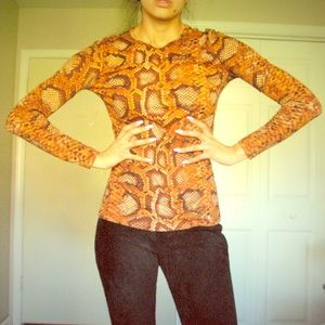 Altuzarra Python print long sleeve top size XS