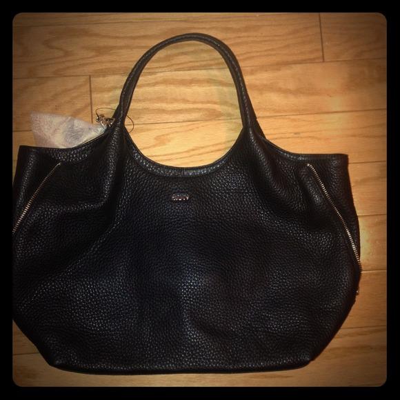 dkny bags donna karan gorgeous black textured purse
