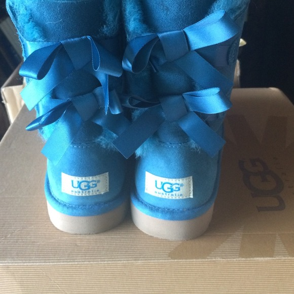 blue ugg boots with bows