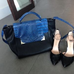 BLue +black handbag... Shoes not included