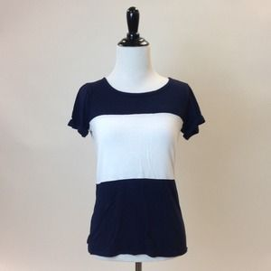 GAP Tops - Navy and White Striped T-Shirt