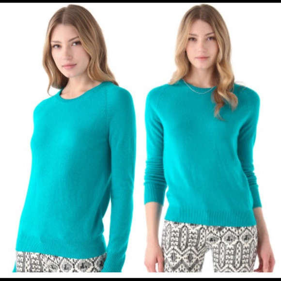 Equipment Sweaters - NWT Equipment Sloane Crew in Turquoise Cashmere S