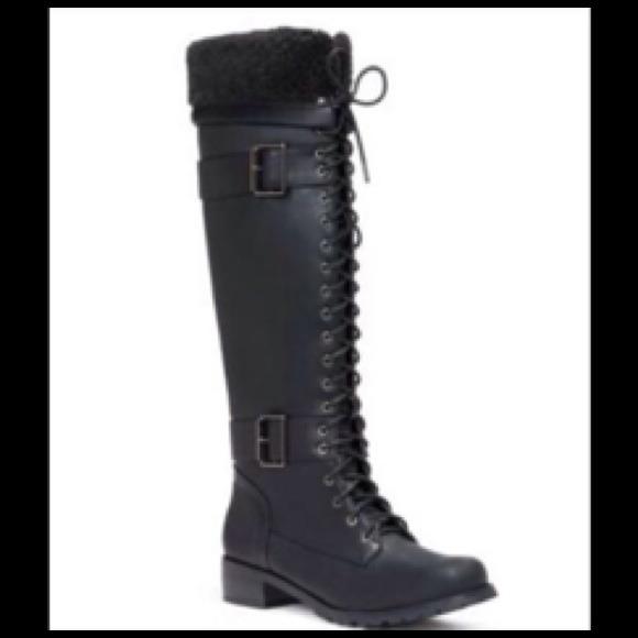 Tall Black Combat Boots - Cr Boot