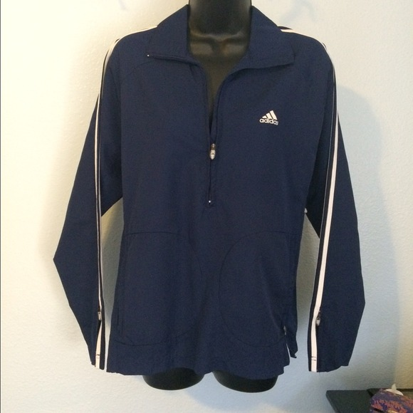 Adidas - Adidas Navy Windbreaker Pullover Jacket from Chioblu ...