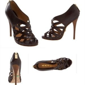 👠LAMB brown strapy heels