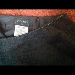 Chanel Wool Black Skirt Size 40