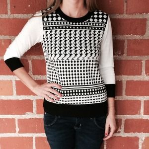Merona Sweaters - Black and white sweater
