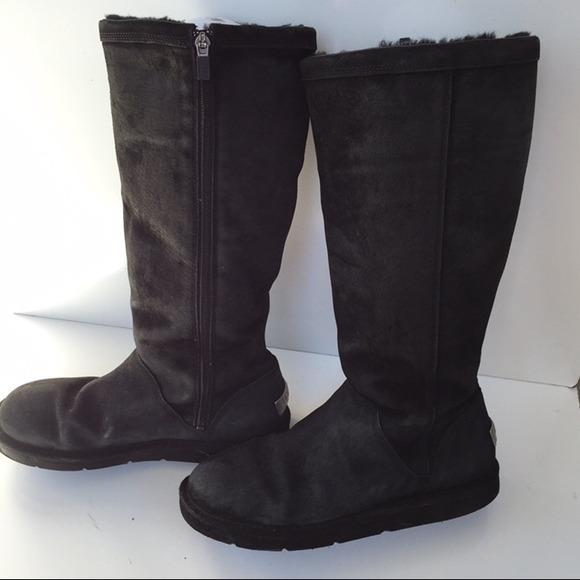 afb72556d3f Ugg Australia greenfield tall black boots Sz 10