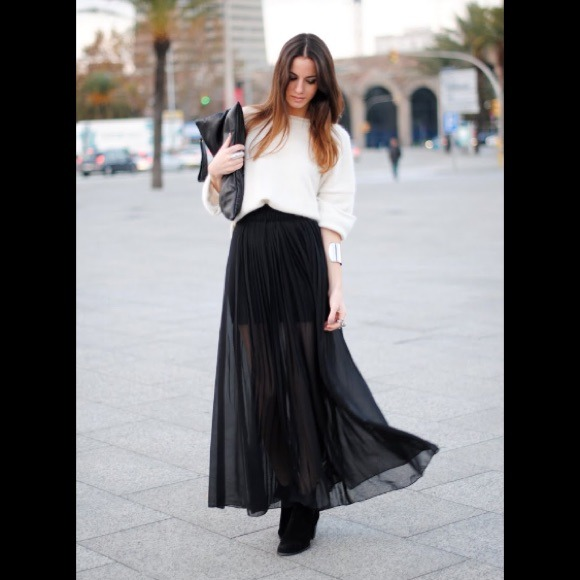 57 h m dresses skirts h m black maxi skirt from