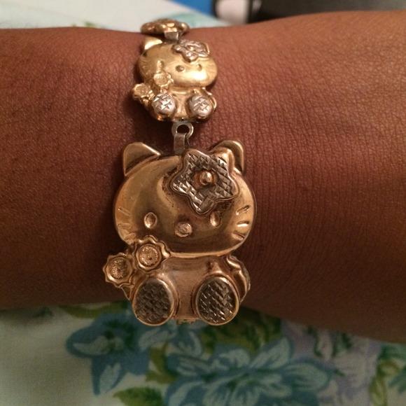 Hello Kitty Jewelry Hello Kitty 10kt Gold Bracelet Obo Poshmark