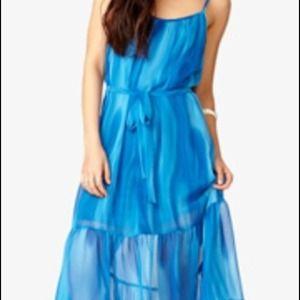 Forever 21 Hi-low Watercolor Dress